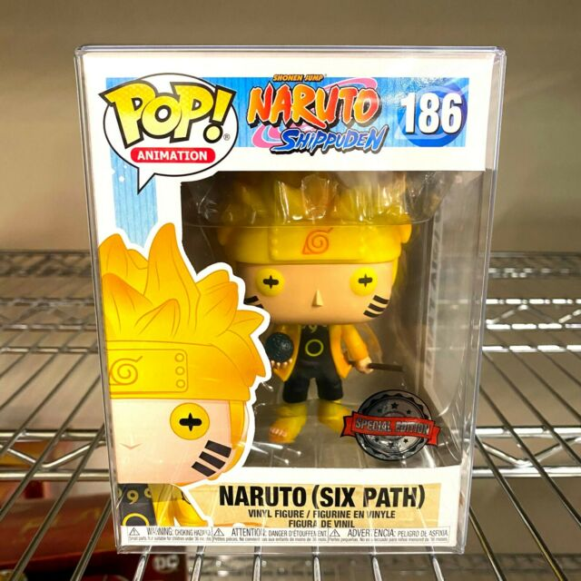 "Funko Pop Naruto Shipuden : Naruto (Six Path) #186 Vinyl w/0.5mm Case ""MINT"""