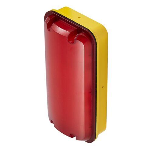 5W YELLOW BASE ASBLED//110V OPTIONAL RED LENS LED 110V POLYCARBONATE BULKHEAD