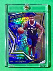 Zion Williamson ROOKIE PANINI REVOLUTION GOLD REFRACTOR FINISH 2019-20 RC Mint!
