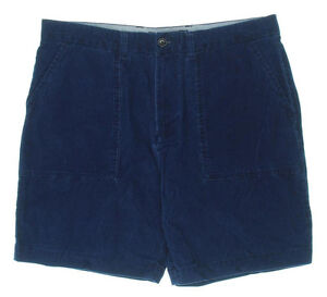 Tommy-Hilfiger-Shorts-Classic-Fit-Indigo-Casual-Corduroy-Size-38-NEW-Mens