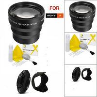 49mm 3.5x Telephoto Zoom Lens For Sony Alpha Nex-3 Nex-5 Nex-7 A3000 Nex-f3