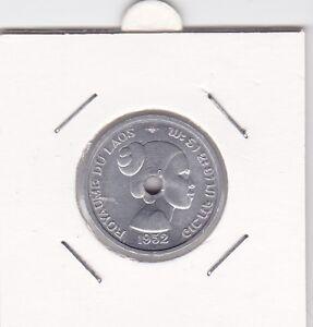 10-cents-Laos-1952-Sisavang-Vong-Frau-woman-Lao-prima-Erhaltung