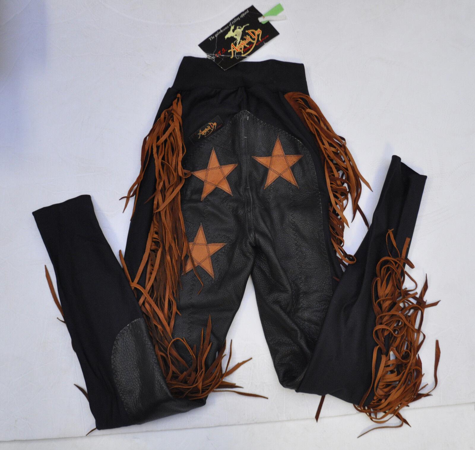 Aanstadt das Deerskin Completo  Asiento Equitación Pantalones de Montar W Flecos Negro AC Talla M  exclusivo