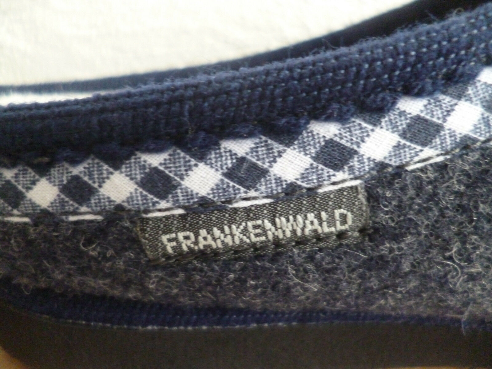 Frankenwald Damen Pantoffel Hausschuhe, blau/grau NEU für lose Einlagen, Filz NEU blau/grau 49b0a1