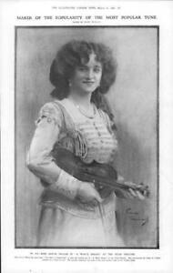 1908-Antique-PORTRAIT-Print-Miss-Gertie-Millar-Hicks-Theatre-Waltz-Dream-171