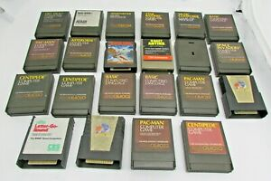 Lot-of-21-Loose-Games-Cart-Programs-for-Atari-400-800-Computer-w-1-CBS-Game