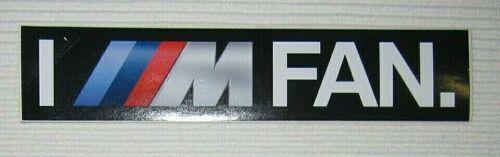 BMW Motorsport I M Fan 3 x 15 cm Aufkleber Sticker NEU A54v