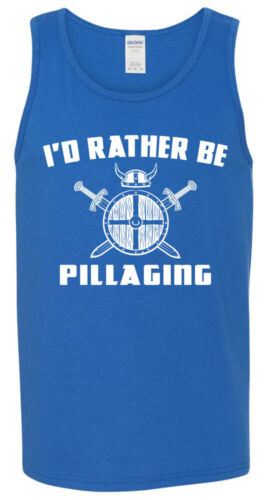 Norse Odin Viking Valhalla Thor S to 3XL Rather Be Pillaging TANK TOP