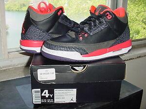 cb4aa9b4da198 Nike Air Jordan III 3 Retro GS Black Bright Crimson Canyon Purple ...