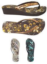 WHOLESALE LOT 36 Pairs Women's Wedge Glitter  Flip Flop Sandal--(#5013)