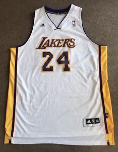 0477db4ddb9 Men s NBA Los Angeles Lakers Kobe Bryant adidas White Jersey Size ...