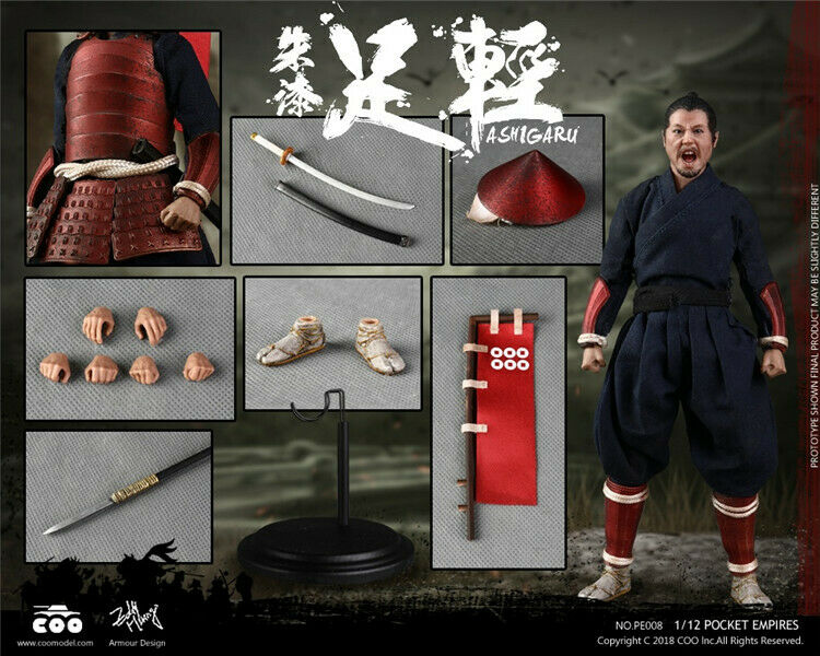 COOMODEL NO.PE008 1 12 Palm Empires-Rouge Armor Ashigaru Figure Collectible