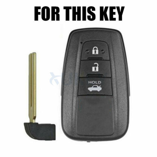For Toyota Prius CHR Land Cruiser Prado Silicone Key Case Remote Fob Cover 17 18