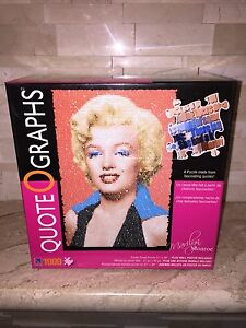 SURE LOX 1000 PC JIGSAW PUZZLE MARILYN MONROE QUOTEOGRAPHS