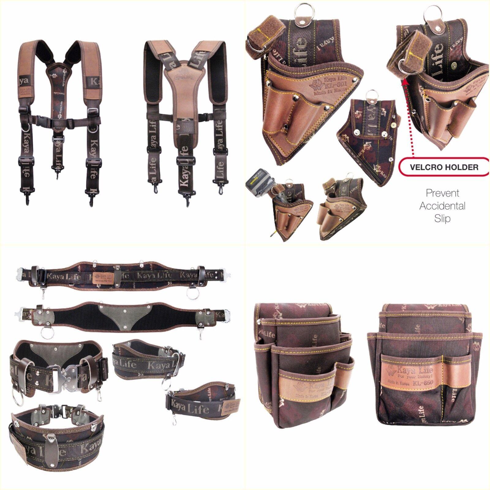 Professional Work Tool Belt Suspenders Multi holders Set KL Series Korea Made