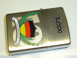 ZIPPO-LIGHTER-WITH-GERMANY-FLAG-MOTIVE-LIMITED-EDITION-NEVER-STRUCK-2003