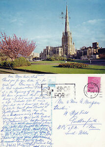 1973-St-MARY-REDCLIFFE-BRISTOL-SOMERSET-COLOUR-POSTCARD