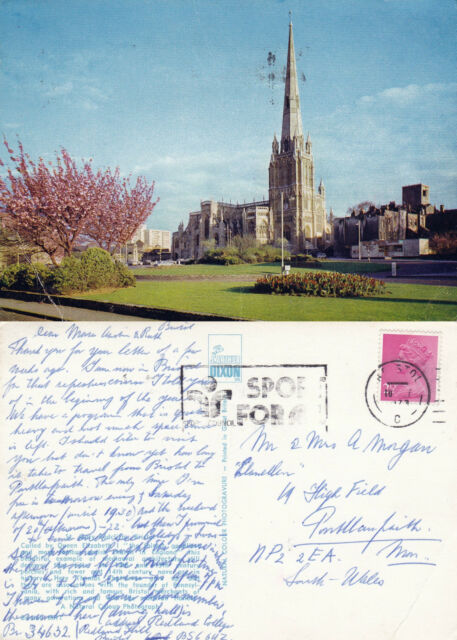 1973 St MARY REDCLIFFE BRISTOL SOMERSET COLOUR POSTCARD