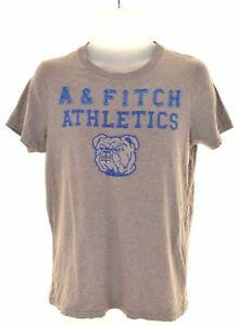 Abercrombie-amp-Fitch-Mens-t-shirt-Grafico-Superior-Musculo-Algodon-Gris-Medio-ET24