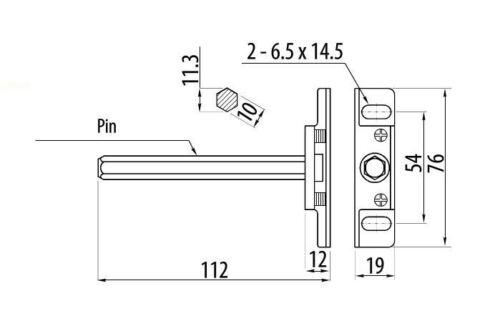 20 x caché étagère soutient crochets flottant caché 112 mm