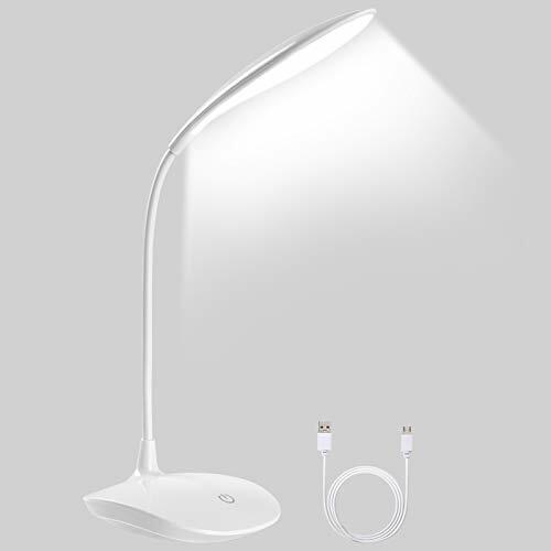 Lámpara Flexo Led Escritorio, Panel Táctil, 3 Niv. de Brillo - modo...