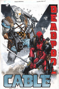 MATTHEW CLARK/KARL MOLINE CABLE/DEADPOOL JAM ORIGINAL ART!