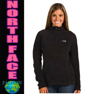 Details about The North Face Women's Size Small 100 GLACIER 14 Zip Fleece TNF Black