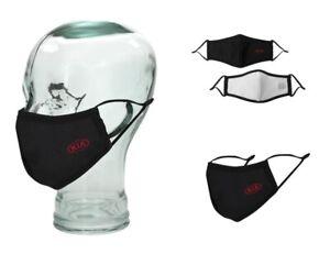 KIA Maske Mundschutz Mund / Nasen schutz Schwarz Stoffmaske Behelfsmaske