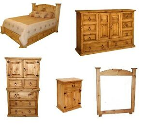 Image Is Loading Rustic Western 5pc Mansion Storage Bed Bedroom Set