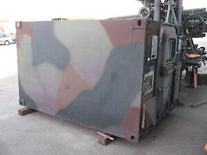bundeswehr funkkabine shelter container unimog wohnmobil koffer ebay. Black Bedroom Furniture Sets. Home Design Ideas