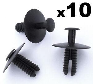 10x-6mm-Vauxhall-Bumper-amp-Wheel-Arch-Lining-Plastic-Body-Panel-Trim-Rivet-Clip