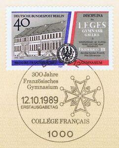 Berlin 1989: Lycée Français Nº 856 Avec Le Ersttags-cachet Spécial! 1a-rstempel! 1afr-fr Afficher Le Titre D'origine
