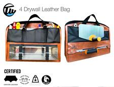 4 Drywall Leather Drywalling Tool Bag Trowels Hawk Mudpan Drywall Knives Tape
