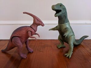 Lot Of 2 Large Up To 12 Inches Tall Resin Dinosaurs T Rex