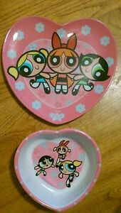 CARTOON NETWORK POWERPUFF GIRLS-PLATE AND BOWL