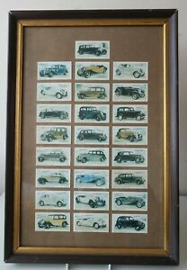 TADDY-amp-CO-Framed-Set-OF-25-Classic-Cars-Automobiles-1980-CIGARETTE-CARDS