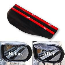 2X Universal Rear View Side Mirror  Flexible Rain Board Sun Visor Shade Shield