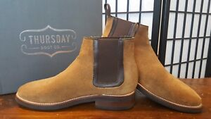 197498e6d1480b Image is loading Thursday-Boot-Company-Honey-Suede-Chelsea-Boots-9-