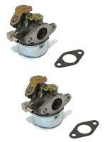 (2) Carburetors For Tecumseh 632107a Hssk40 Hssk50 Hs50 Lh195sa Small Engine
