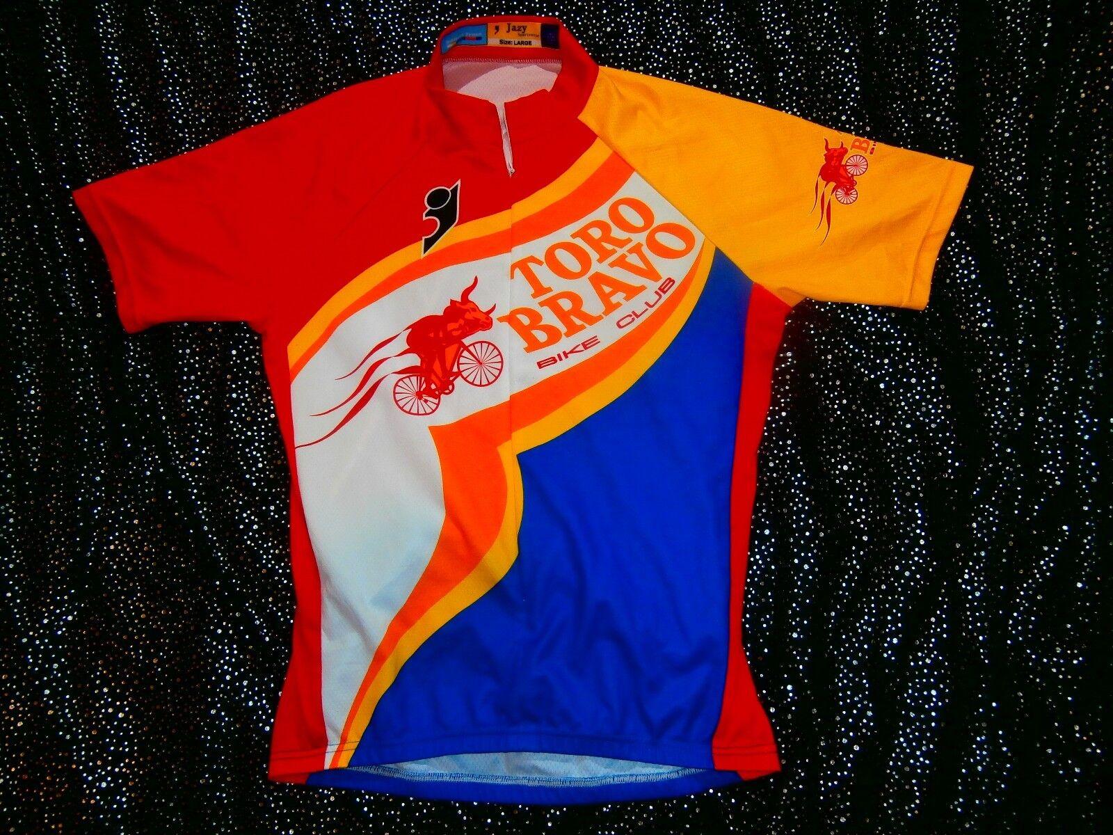 Toro BRAVO Team Bike Cycling cycle jersey FLURO NEON PRO TOUR donna Mens Sz L