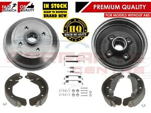 FOR-VAUXHALL-CORSA-B-NOVA-TIGRA-REAR-BRAKE-DRUMS-SHOES-amp-FITTING-KIT-NON-ABS