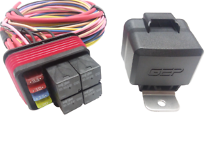 details about gep universal pre wired waterproof mini fuse relay panel box holder 80 amp 12v 80 Amp Battery Fuse