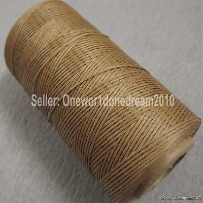 Light Brown LeatherCraft AWL Diamond Chisel Sewing Waxed Thread 1mm 284yrd