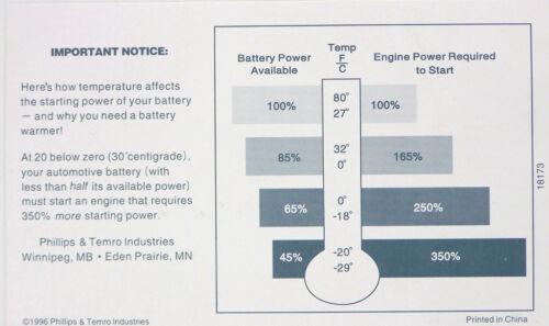"80W Battery Heater Warmer Blanket Battery Wrap 5 X 36/"" Premium Quality"