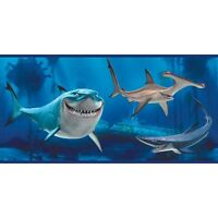 Disney Finding Nemo Sharks Wall Border - Featuring Bruce The Shark