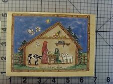 "Large Stamps Happen from heidi satlerberg ""let us adore him"" Nativity/Manger"