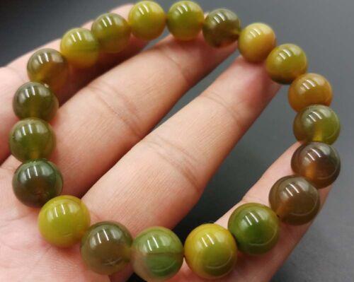 "10 Mm Naturel Green Dream agate onyx Gemstone Beads Bracelet 7.5/"" AAA"
