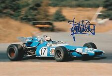 Jackie Stewart Hand Signed Matra International F1 12x8 Photo.