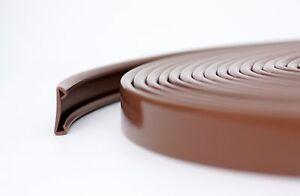 5m PVC Handlauf 40x8mm Treppenhandlauf Kunststoffhandlauf Gummi braun