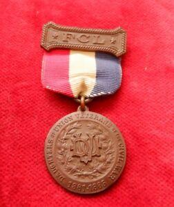 Vintage CIVIL WAR VETERAN Medal GAR Bronze 1861 - 1865 Daughters of Union FCL EU